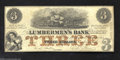 Obsoletes By State:Michigan, 1857 $3 E.L. Fuller at The Lumberman's Bank, Grand Haven, MI, ...