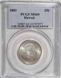 Coins of Hawaii: , 1883 25C Hawaii Quarter MS65 PCGS. PCGS Population (138/88). NGCCensus: (106/66). Mintage: 500,000. (#10987)...