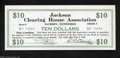 Miscellaneous:Depression Scrip, Jackson, TN- Jackson Clearing House Association $10 1933. ...