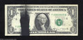 Error Notes:Ink Smears, Fr. 1907-F $1 1969-D Federal Reserve Note. Very Fine. A ...