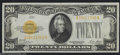 Small Size:Gold Certificates, Fr. 2402 $20 1928 Gold Certificate. Choice About ...