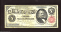Large Size:Silver Certificates, Fr. 267 $5 1891 Silver Certificate Fine-Very Fine. This ...