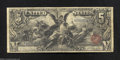 Large Size:Silver Certificates, 1896 $5 Silver Certificate, Fr-268, Fine. Nice margins ...