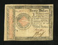 Colonial Notes:Continental Congress Issues, Continental Currency January 14, 1779 $20 Extremely Fine....