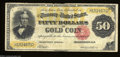 Large Size:Gold Certificates, Fr. 1197 $50 1882 Gold Certificate Fine. An attractive and ...