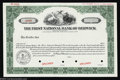 National Bank Notes:Pennsylvania, Berwick, PA - Specimen Stock Certificate The First NB ...