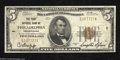 National Bank Notes:Pennsylvania, Philadelphia, PA - $5 1929 Ty. 1 The First NB Ch. # 1