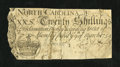 Colonial Notes:North Carolina, North Carolina March 9, 1754 20s Good. ...