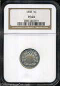 Proof Shield Nickels: , 1868 PR 64 NGC. ...