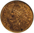 Proof Indian Cents, 1871 1C PR64 Red and Brown NGC. Eagle Eye Photo Seal. NGC Census: (51/53). PCGS Population (91/43). Mintage: 960. Numismedi...