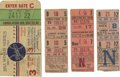 Baseball Collectibles:Tickets, 1953 World Series Ticket Stub/1951 & 1952 Brooklyn DodgersTicket Stubs Lot of 4. The 1953 World Series pitted the Brooklyn...