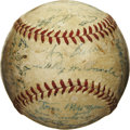 Autographs:Baseballs, 1954 New York Yankees Team Signed Baseball. A total of 26 membersof the 1954 New York Yankees have applied their signature...