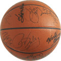 Basketball Collectibles:Balls, 1987-88 Los Angeles Lakers World Champion Team Signed Basketball.Fourteen signatures from the World Champion 1987-88 Los A...