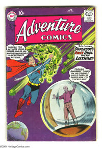 Adventure Comics #271 (DC, 1960) Condition: VG. Origin of Lex Luthor. Another cool Superboy vs. Kryptonite cover. Overst...
