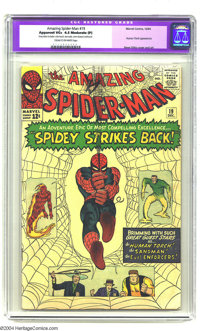Amazing Spider-Man #19 (Marvel, 1964) CGC Apparent VG+ 4.5 Moderate (P) Cream to off-white pages. Human Torch appearance...