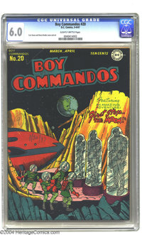 Boy Commandos #20 (DC, 1947) CGC FN 6.0 Slightly brittle pages. Curt Swan cover and art. Overstreet 2003 FN 6.0 value =...