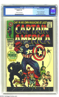 Silver Age (1956-1969):Superhero, Captain America #100 (Marvel, 1968) CGC VG/FN 5.0 Off-white to white pages. First issue, continued from Tales of Suspense...