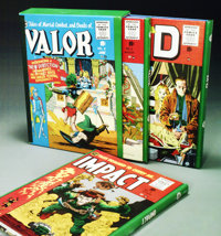 The Complete EC Library: Valor/Impact/M.D. Volumes 1-3 in slipcase (Russ Cochran, 1988). Russ Cochran's three volume, sl...