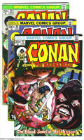 Bronze Age (1970-1979):Miscellaneous, Conan the Barbarian Group (Marvel, 1973-74) Condition: AverageVF/NM. This group includes #27-38 (37 has Neal Adams art) and...(Total: 13 Comic Books Item)