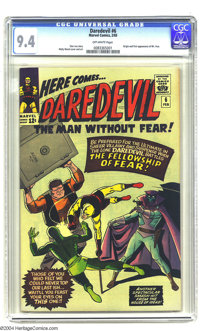 Daredevil #6 (Marvel, 1965) CGC NM 9.4 Off-white pages. Origin and first appearance of Mr. Fear. Wally Wood cover and ar...