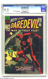 Daredevil #10 (Marvel, 1965) CGC NM- 9.2 Off-white to white pages. Wally Wood cover art. Wood and Bob Powell art. Only f...