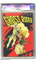 Golden Age (1938-1955):Western, Ghost Rider #5 (Magazine Enterprises, 1951) CGC Apparent VG/FN 5.0 Slight (P) Off-white pages. Frank Frazetta cover and Dick...