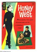 Silver Age (1956-1969):Adventure, Honey West #1 (Gold Key, 1966) Condition: FN+. TV comic, photo cover. Overstreet 2003 FN 6.0 value = $33....