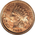 Proof Indian Cents, 1863 1C PR66 Cameo NGC....