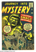 Silver Age (1956-1969):Mystery, Journey into Mystery #59 (Marvel, 1960) Condition: VG. Jack Kirbyand Steve Ditko cover. Kirby, Ditko, and Don Heck art. Ove...