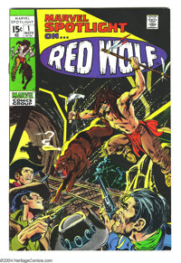 Marvel Spotlight #1 (Marvel, 1971) Condition: NM-. Origin of Red Wolf. Neal Adams cover art. Syd Shores and Wally Wood i...