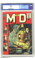 Golden Age (1938-1955):Miscellaneous, M.D. #3 Gaines File pedigree 5/12 (EC, 1955) CGC NM- 9.2 White pages. With its surgical-white interior pages and heart-pound...