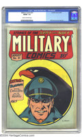 Golden Age (1938-1955):War, Military Comics #31 (Quality, 1944) CGC FN/VF 7.0 Cream tooff-white pages. Overstreet 2003 FN 6.0 value = $189; VF 8.0valu...