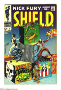 Silver Age (1956-1969):Superhero, Nick Fury, Agent of SHIELD #1 (Marvel, 1968) Condition: VF+. JimSteranko cover. Overstreet 2003 VF 8.0 value = $89; VF/NM 9...
