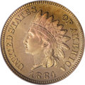 Proof Indian Cents, 1884 1C PR66 Red PCGS....