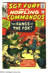 Sgt. Fury and His Howling Commandos #6 (Marvel, 1964) Condition: VF+. Fury and the Howlers encounter the Desert Fox -- N...