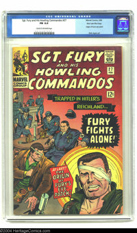 Sgt. Fury and His Howling Commandos #27 Stan Lee File Copy (Marvel, 1966) CGC FN 6.0 Cream to off-white pages. The origi...
