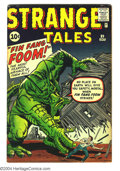 Silver Age (1956-1969):Adventure, Strange Tales #89 (Marvel, 1961) Condition: VG+. First appearanceof Fin Fang Foom. Jack Kirby art. Overstreet 2003 VG 4.0 v...