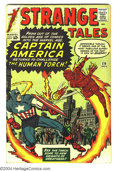 Silver Age (1956-1969):Superhero, Strange Tales #114 (Marvel, 1963) Condition: VG. The Human Torch battles Captain America (Acrobat in disguise), first appear...