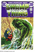 Bronze Age (1970-1979):Horror, Swamp Thing #1 Double Cover (DC, 1972) Condition: VF. Origin of theSwamp Thing. Bernie Wrightson cover and art. First cover...