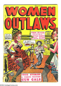 """Women Outlaws #1 (Fox Features Syndicate, 1948) Condition: GD+. Used in Seduction of the Innocent, illustrating """"Gi..."""