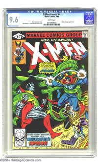 X-Men Annual 4 (Marvel, 1980) CGC NM+ 9.6 White pages. Chris Claremont story. John Romita Jr. and Bob McLeod cover and a...