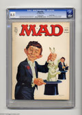 Magazines:Mad, Mad #182 Gaines File pedigree (EC, 1976) CGC VF+ 8.5 Off-whitepages. Larry Siegel, Tom Koch, and Stan Hart stories. Angelo ...