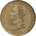 Colonials, 1783 1C Washington & Independence Cent, Draped Bust, Copper Restrike, Engrailed Edge PR66 Brown PCGS....