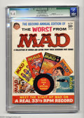 """Silver Age (1956-1969):Humor, Worst From Mad #2 (EC, 1959) CGC Qualified NM 9.4 Off-white to white pages. CGC notes """"Record missing incomplete."""" Overstree..."""