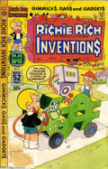 Original Comic Art:Miscellaneous, Color Guide for Richie Rich Inventions #5 Cover (Harvey, 1970s).This is the actual hand-painted (watercolors) color guide t...