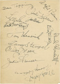 """Autographs:Letters, Vintage Yankee Greats Album Page Signed by 14. The 5x7"""" album pagethat we provide here dons fourteen exceptionally preserv..."""