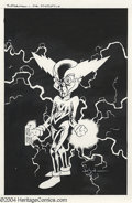 Original Comic Art:Covers, Jason Pearson - Original Art Cover for Mr. Mxyzptlk (Villains) #1(DC, 1998). Mr. Mxyzptlk plugs in to a socket. The overall...