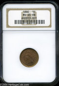 Indian Cents: , 1880 MS65 Red and Brown NGC. ...