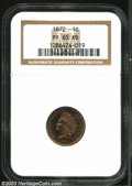 Proof Indian Cents: , 1872 1C PR65 Red NGC. A semi-key issue in business strike ...