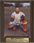 Autographs:Photos, Roy Campanella Signed Photograph. High-quality post accidentexample of the tragic catcher's desirable autograph. Beautiful...
